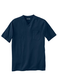 Lightweight V-Neck Pocket T-Shirt, NAVY