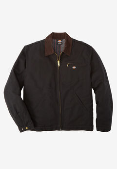 Rigid Duck Blanket Lined Jacket by Dickies®, BLACK