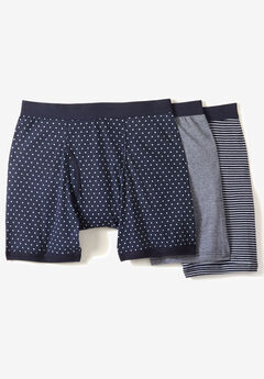 Cotton Cycle Briefs 3-Pack, ASSORTED NAVY PATTERN