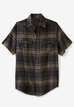 Liberty Blues® Frayed Short-Sleeve Flannel,