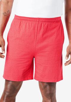 Lightweight Basic Shorts, HEATHER RED APPLE