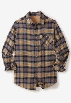 Flannel Shirt by Boulder Creek®, STEEL PLAID