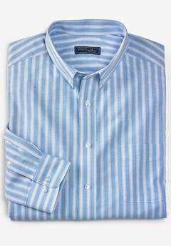 KS Signature Wrinkle-Resistant Oxford Dress Shirt, BLUE STRIPE