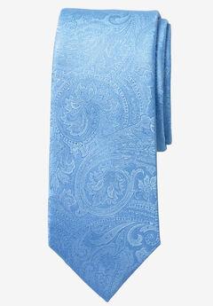 Extra Long Paisley Tie by KS Signature, SKY BLUE PAISLEY