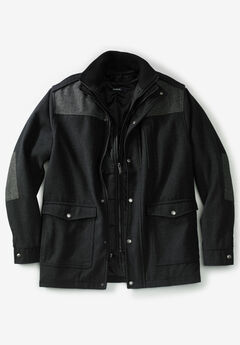Wool Combat Jacket, HEATHER CHARCOAL