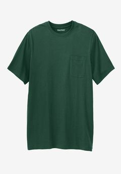 Lightweight Longer-Length Crewneck Pocket T-Shirt, HUNTER