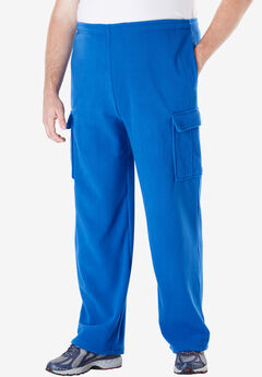Fleece Cargo Pants, ROYAL BLUE