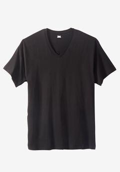 Hanes® FreshIQ® V-neck, BLACK