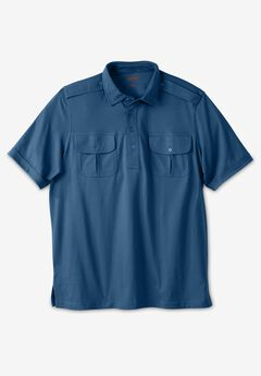Heavyweight Short-Sleeve Pilot Polo Shirt,