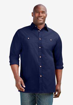 Solid Poplin Shirt,