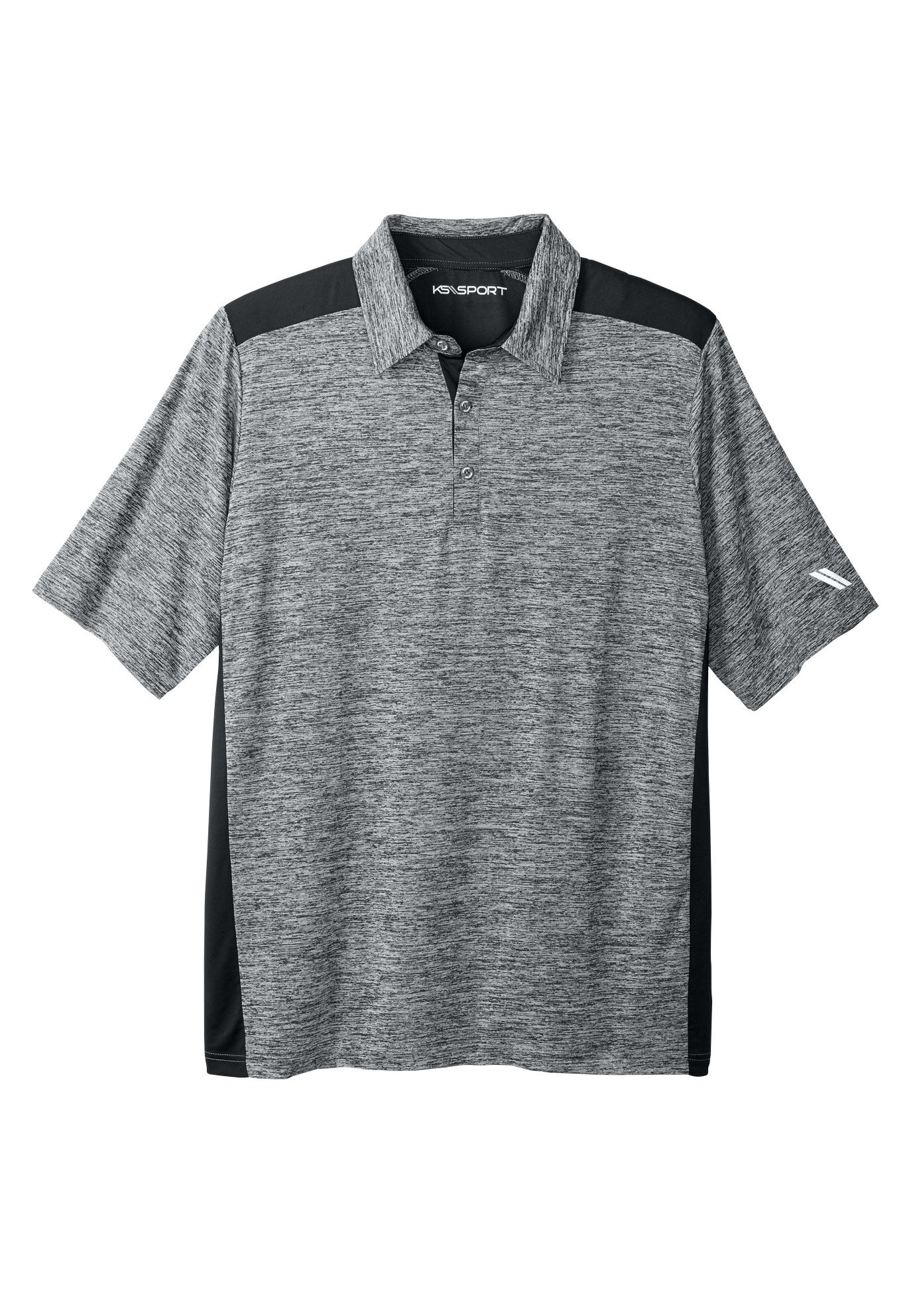 Kingsize Sport Collection Mens Big /& Tall Tech Polo