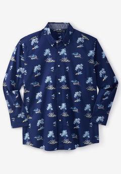 Nautica® Stretch Poplin Long-Sleeve Button Down Shirt, NAUTICA ISLAND