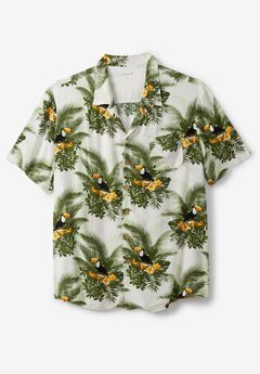 KS Island™ Tropical Caribbean Camp Shirt, TOUCAN