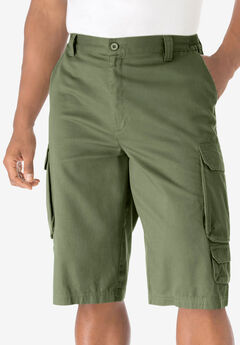 "14"" Cargo Shorts, SAFARI GREEN"