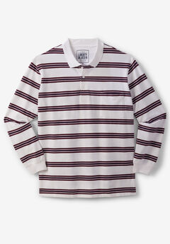 Liberty Blues® Long-Sleeve Polo Shirt , RUSSET STRIPED