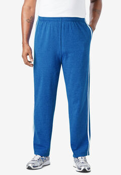Lightweight Sweat Pants with Side Stripes ,