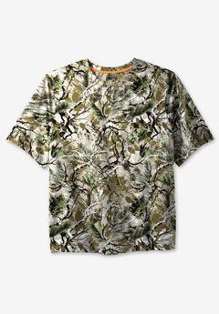 Boulder Creek® Heavyweight Crewneck Pocket T-Shirt, WOODS CAMO