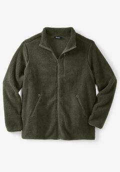 Quarter ZIp-Front Sherpa Jacket,