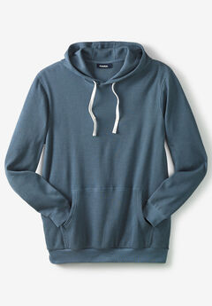 Waffle Knit Thermal Hoodie,