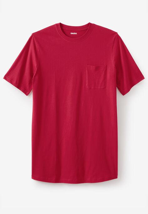 1e1dd3273a24 Shrink-Less™ Lightweight Longer-Length Crewneck Pocket T-Shirt| Big ...