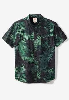Short-Sleeve Woven Shirt by Levi's®, BLACK LEAF