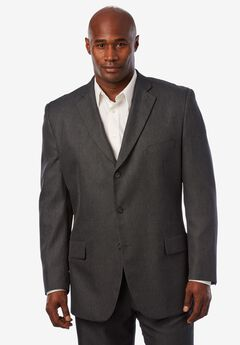 Easy Movement® Three-Button Jacket by KS Signature, CHARCOAL PINDOT