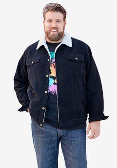Sherpa-lined trucker jacket,
