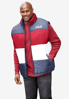FILA® Color Block Puffer Vest,