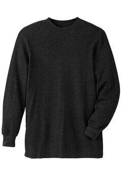 Heavyweight Thermal Underwear Crewneck Tee, BLACK