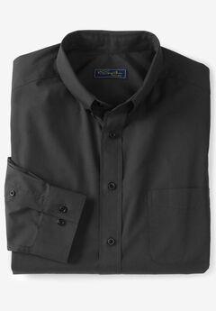 No Hassle® Long-Sleeve Button-Down Collar Dress Shirt by KS Signature®, BLACK