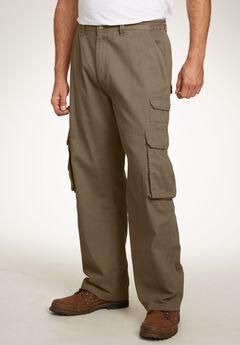 Boulder Creek® Side-Elastic Cargo Pants, DARK KHAKI