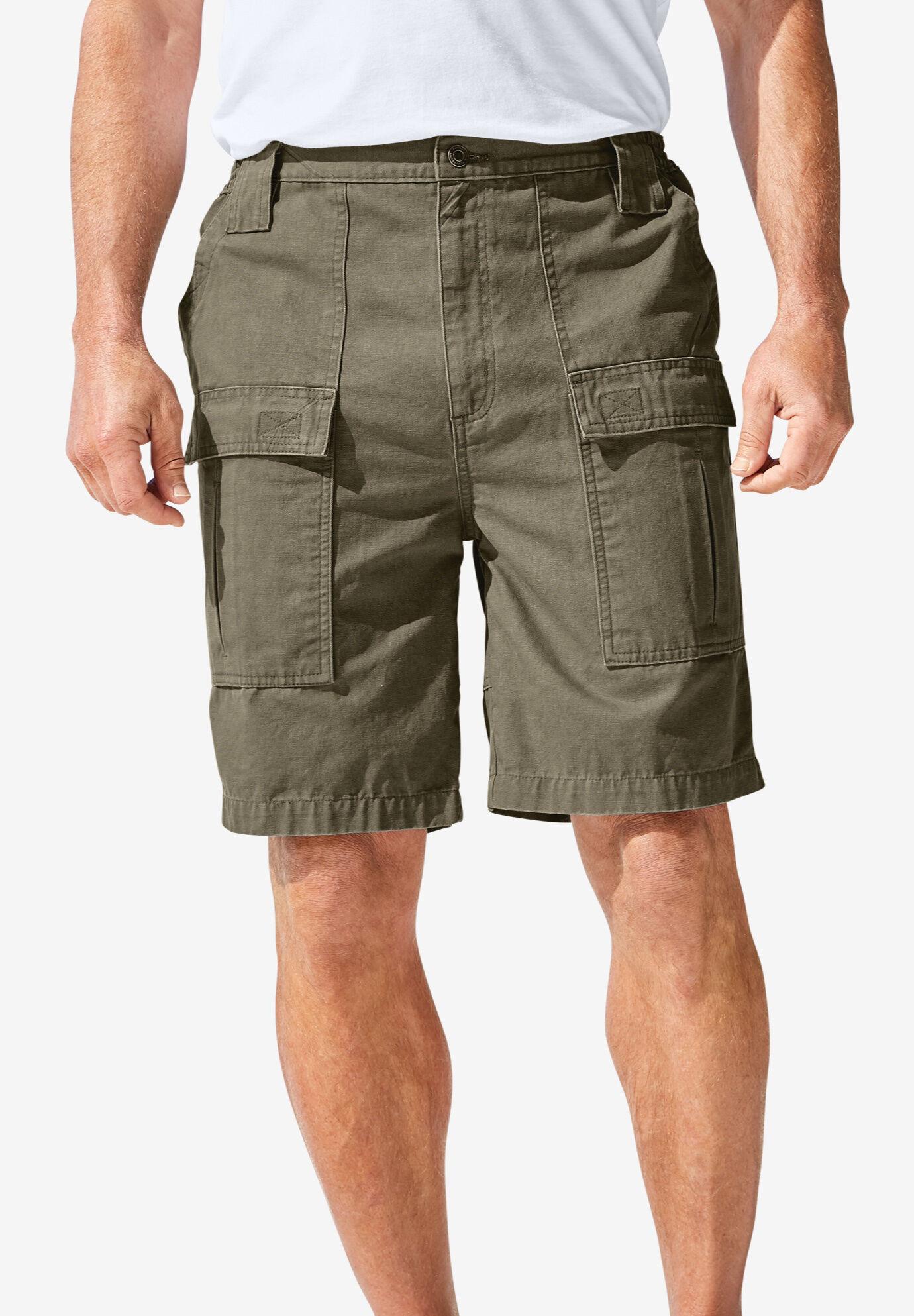 KingSize Mens Big /& Tall 8 Moisture Wicking Cargo Shorts