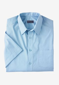 Modern Fit Broadcloth Flex Short-Sleeve Dress Shirt by KS Signature, SKY BLUE