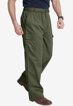 Knockarounds® Cargo Pants with Full Elastic Waist, OLIVE
