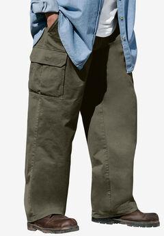 Boulder Creek® Side-Elastic Waist Cargo Pants,