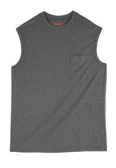 Boulder Creek® Heavyweight Pocket Muscle Tee, HEATHER SLATE