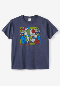 Video Games graphic Tees, SUPER MARIO GROUP