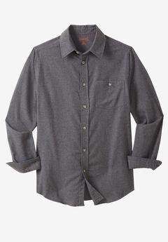 Solid Flannel Shirt by Boulder Creek®, HEATHER SLATE