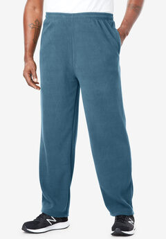 Explorer Fleece Open-Bottom Sweatpants, INDIGO