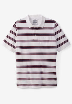 Liberty Blues® Pocket Piqué Polo Shirt, RUSSET STRIPES