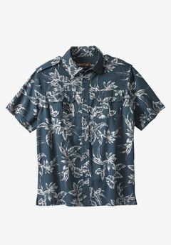 Linen Short Sleeve Pilot Shirt by Boulder Creek®,