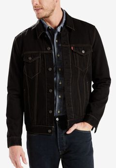Denim Trucker Jacket by Levi's®, LAMAR BLACK STRETCH