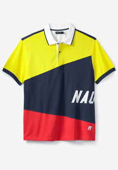 Moisture Wicking Color Block Signature Polo Shirt by Nautica®,