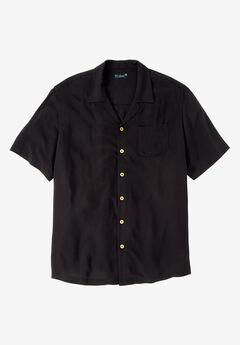 Solid Tropical Shirt by KS Island™, BLACK