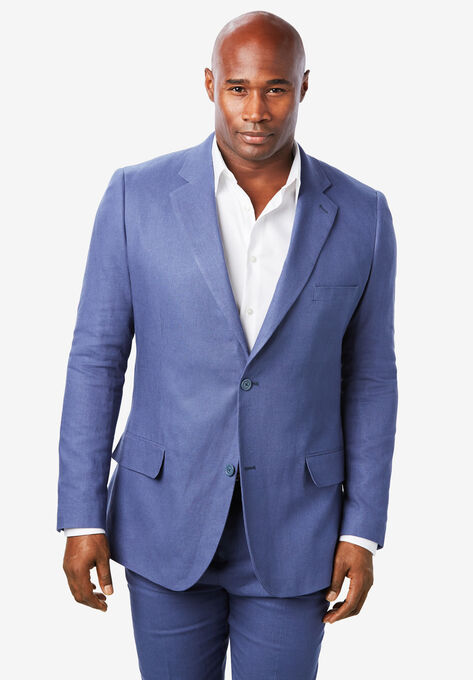 53ff1720b Linen Blend Two-Button Suit Jacket by KS Island™| Big and Tall Sport ...