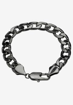"Black Ruthenium-Plated Curb-Link Bracelet 10"","