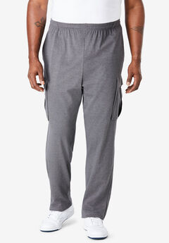Lightweight Cargo Sweatpants, HEATHER SLATE