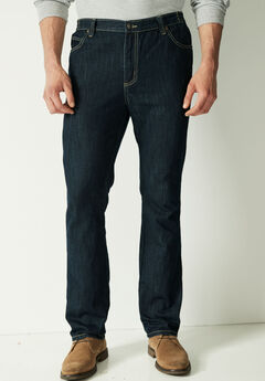 Liberty Blues® Athletic Fit Side Elastic 5-Pocket Jeans,