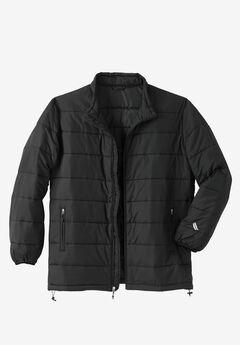 KS Sport™ Lightweight Packable Puffer Jacket, BLACK