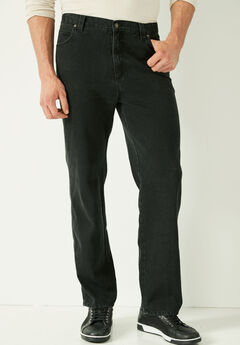Liberty Blues™ Loose-Fit Side Elastic 5-Pocket Jeans,